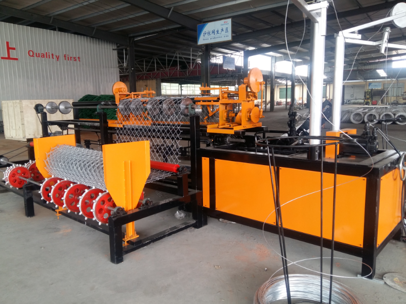 3m width automatic double wire chain link fence machine